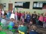 Wspólne zabawy przedszkolaków z Grupy V z uczniami klasy I Szkoły Podstawowej nr 7 przy ul. Zimnej