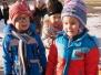 Pierwszy zwiastun zimy w przedszkolnym ogródku